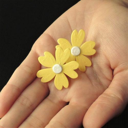 pendientes personalizados flor
